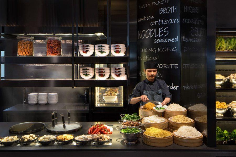 best dinner buffets in Hong Kong JW Marriott JW Cafe Chinese noodles