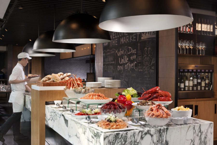 best dinner buffets in Hong Kong The Market Hotel Icon seafood