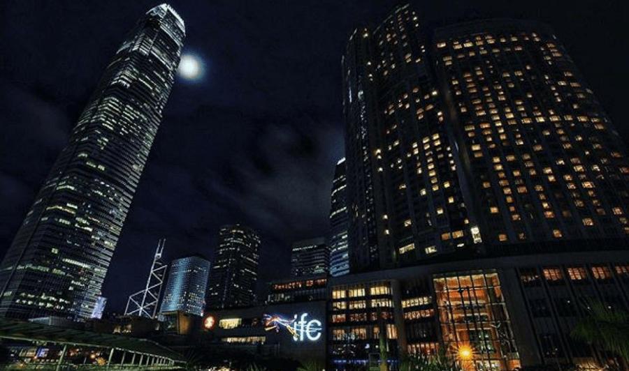 best public toilets in Hong Kong IFC mall night landscape