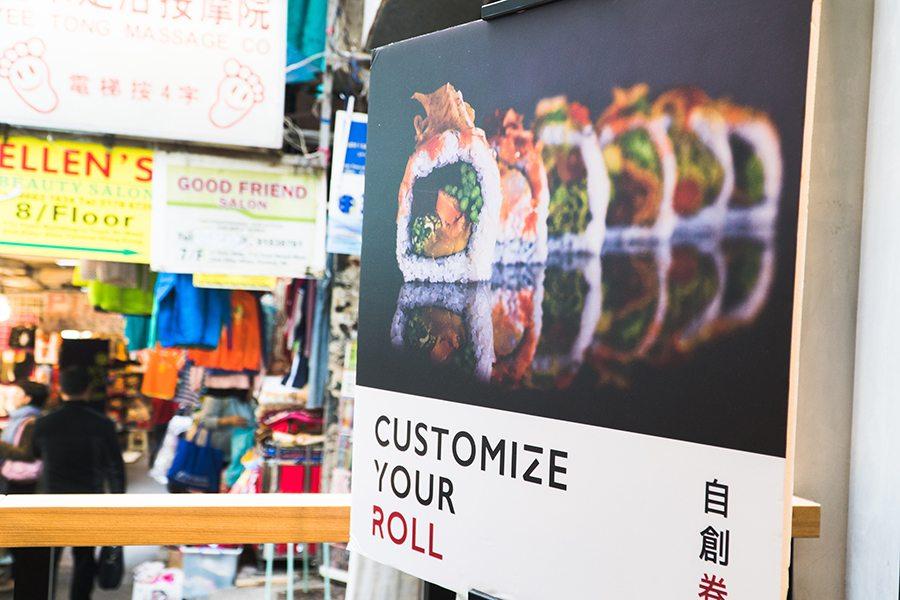 chotto maki sushi central interior sign
