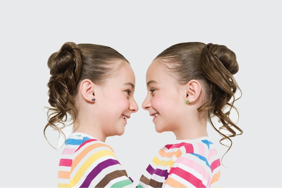 get pierced in Hong Kong Isabella twins with ears pierced