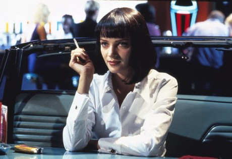 90s movies must watch pulp fiction uma thurman with cigarette at diner
