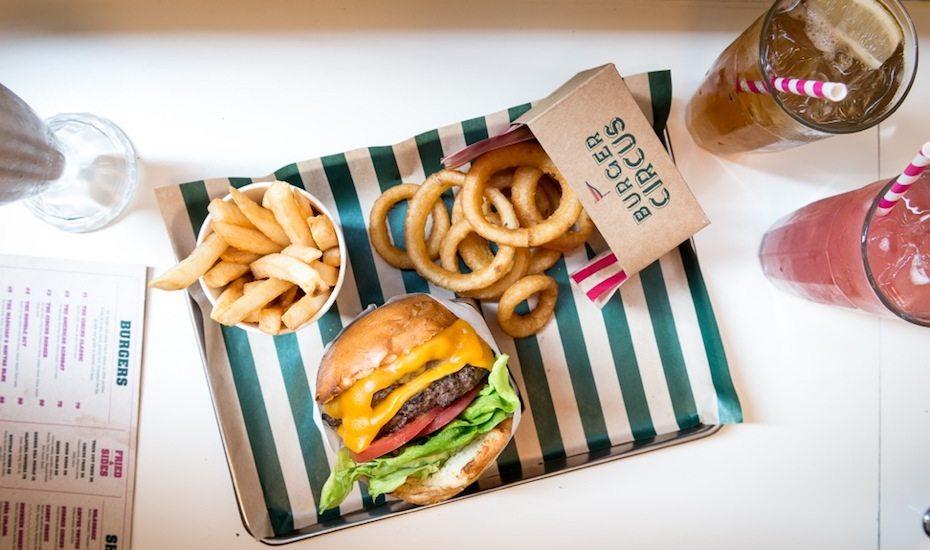 late night restaurants hong kong burger circus tray of food