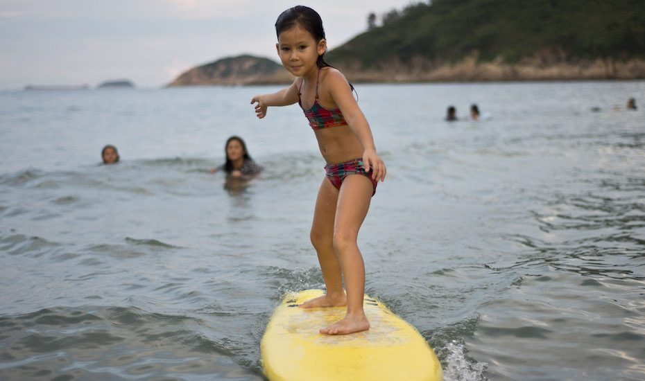 watersports in hong kong girl surfing