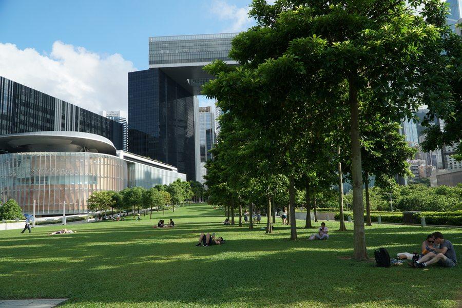 Tamar Park picnic spots in Hong Kong