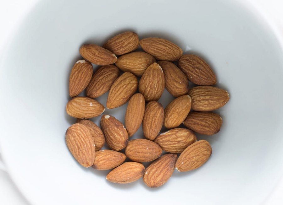 best natural skincare bowl of almonds