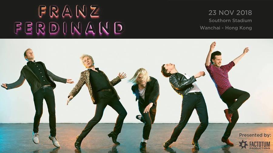 Franz Ferdinand live in Hong Kong concerts gigs rock music