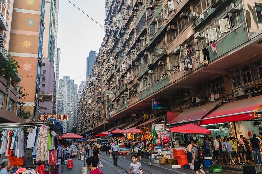 Hong Kong tram tour Chun Yeung Street Wet Market