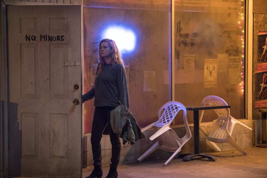 Sharp Objects tv show review Amy adams outside bar