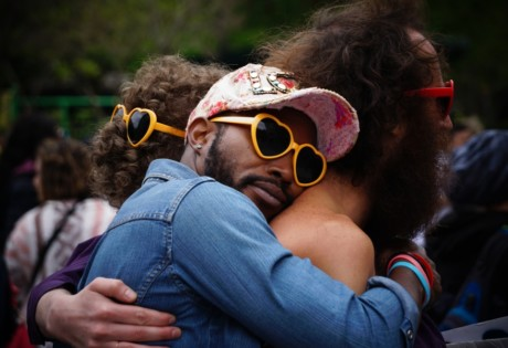 why I'm bringing hugging back men in embrace
