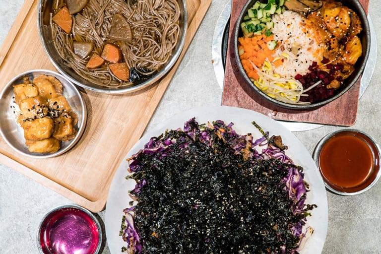 Vegan Korean jeon made possible! Check out the vegetarian menu at Bobsang in Tsing Yi