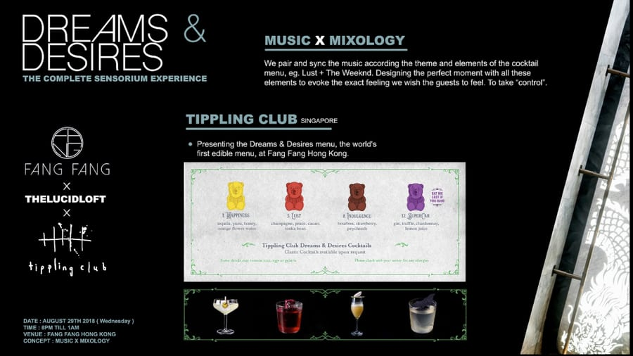 Tippling Club Menu Singapore One night in Hong Kong