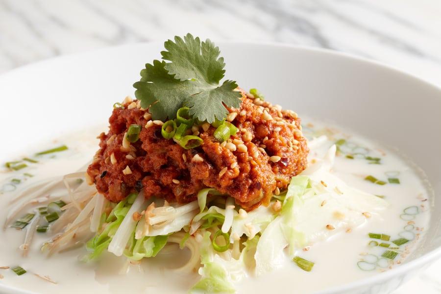vegetarian restaurants in Sheung Wan omnipork tan tan noodle kind kitchen