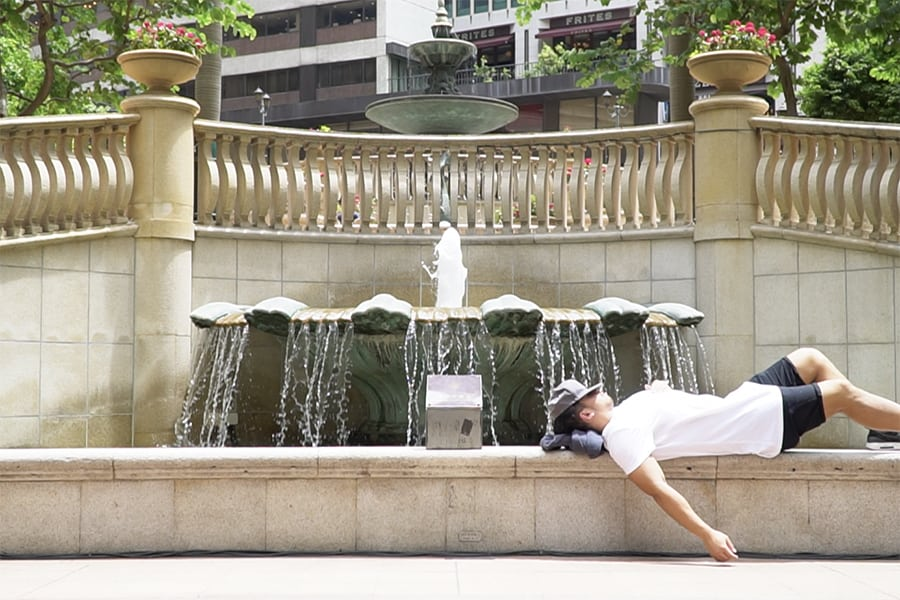 how to keep cool in hong kong water fountain