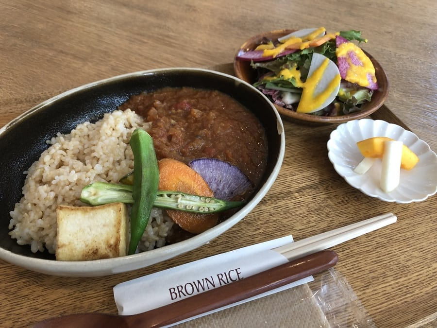 Vegan Vegetarian restaurants in Tokyo Brown Rice by Neal's Yard Remedies