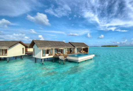 Overwater villas at The Residence Maldives