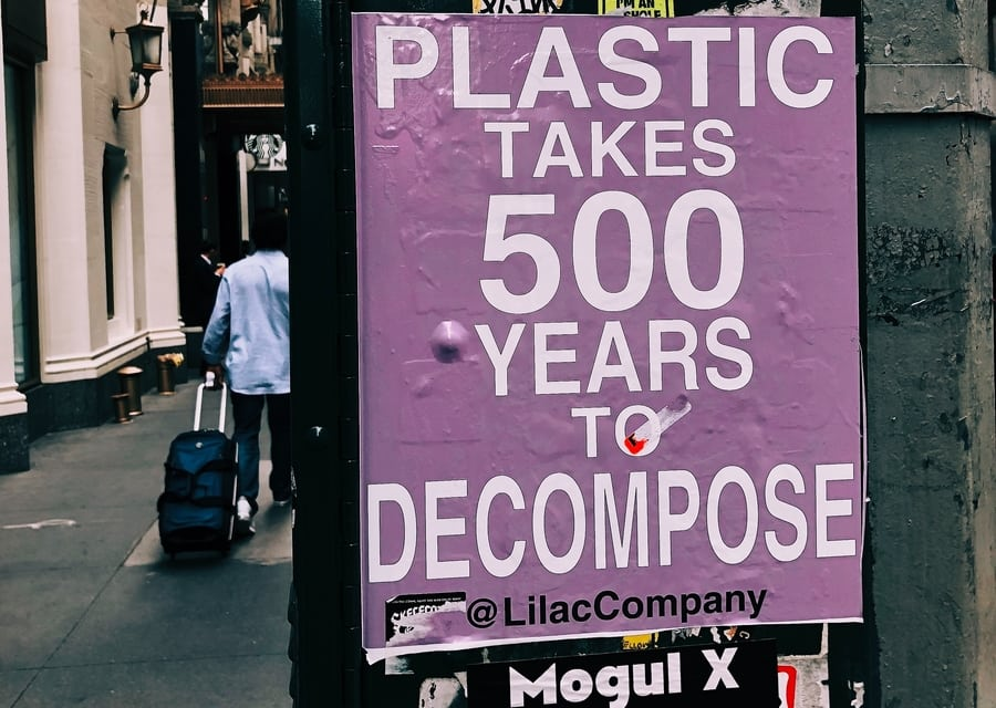 reducing plastic in Hong Kong poster