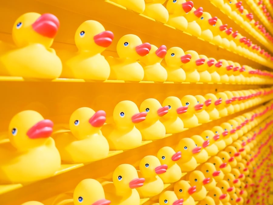 reducing plastic in Hong Kong rubber ducks