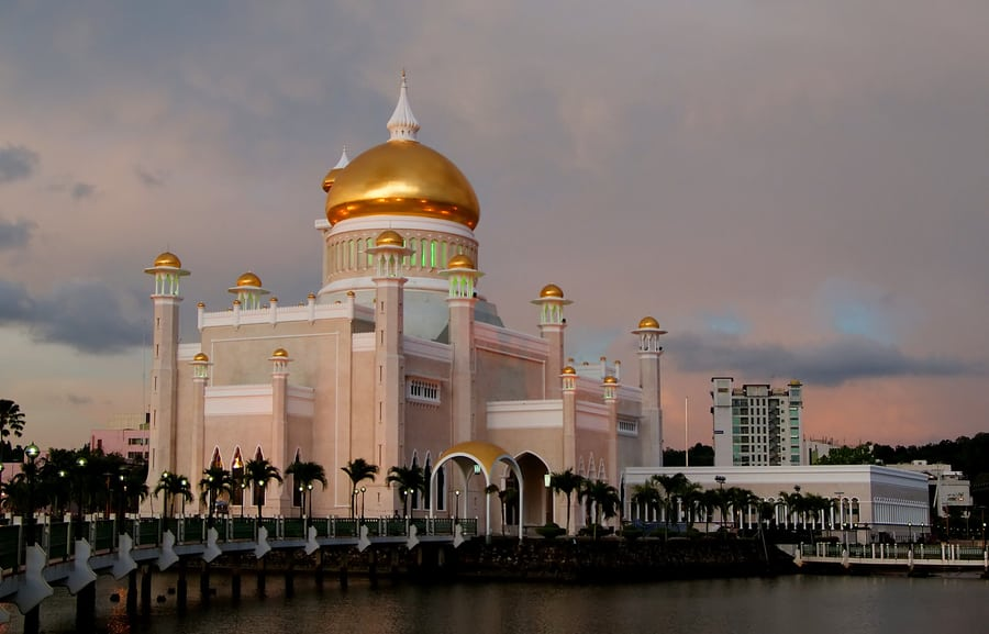 short trips from Hong Kong Sultan Omar Ali Saifuddien Mosque