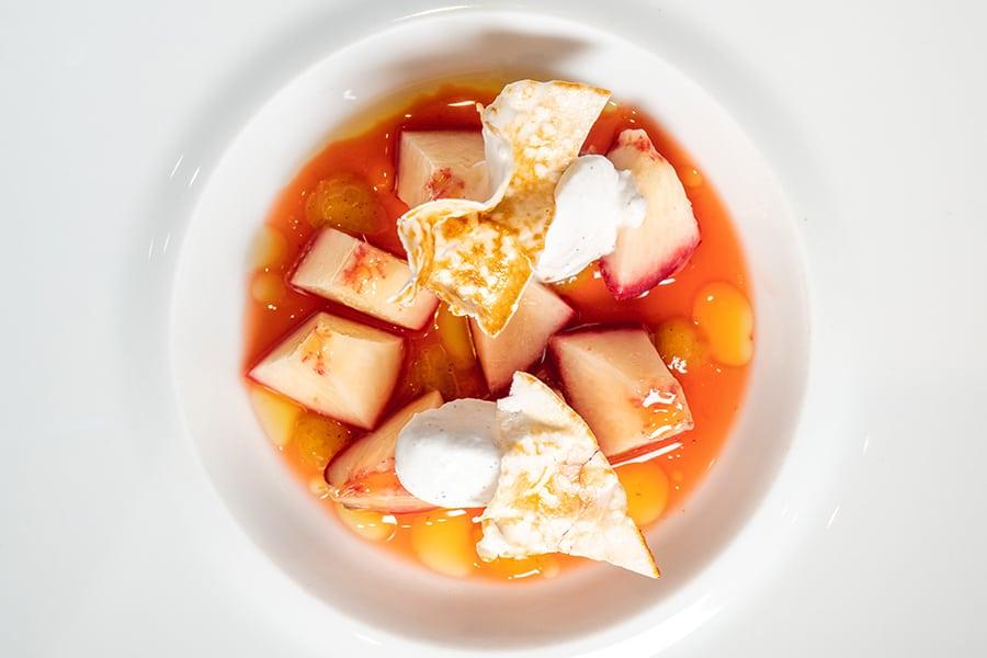 vegan menu Arcane dessert