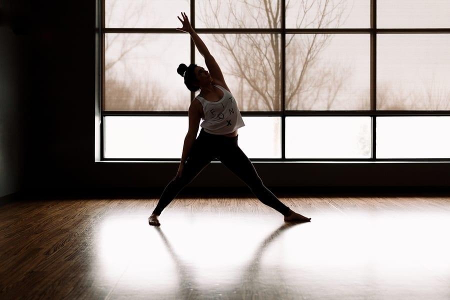 yoga studios in Hong Kong woman stretching