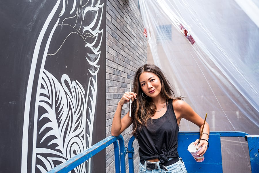 Mural artist, model, influencer: We sat down with Alana Tsui to find out more about life as an artist