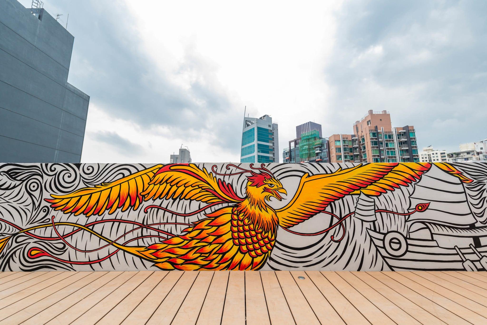 Alana Tsui Phoenix mural