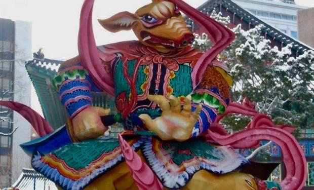 festivals in South Korea temple ornament