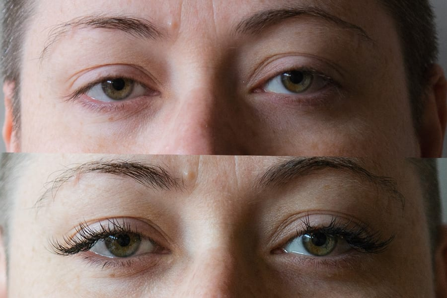 Moksa Central lash extensions before after