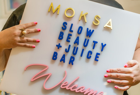 Moksa nail salon sign