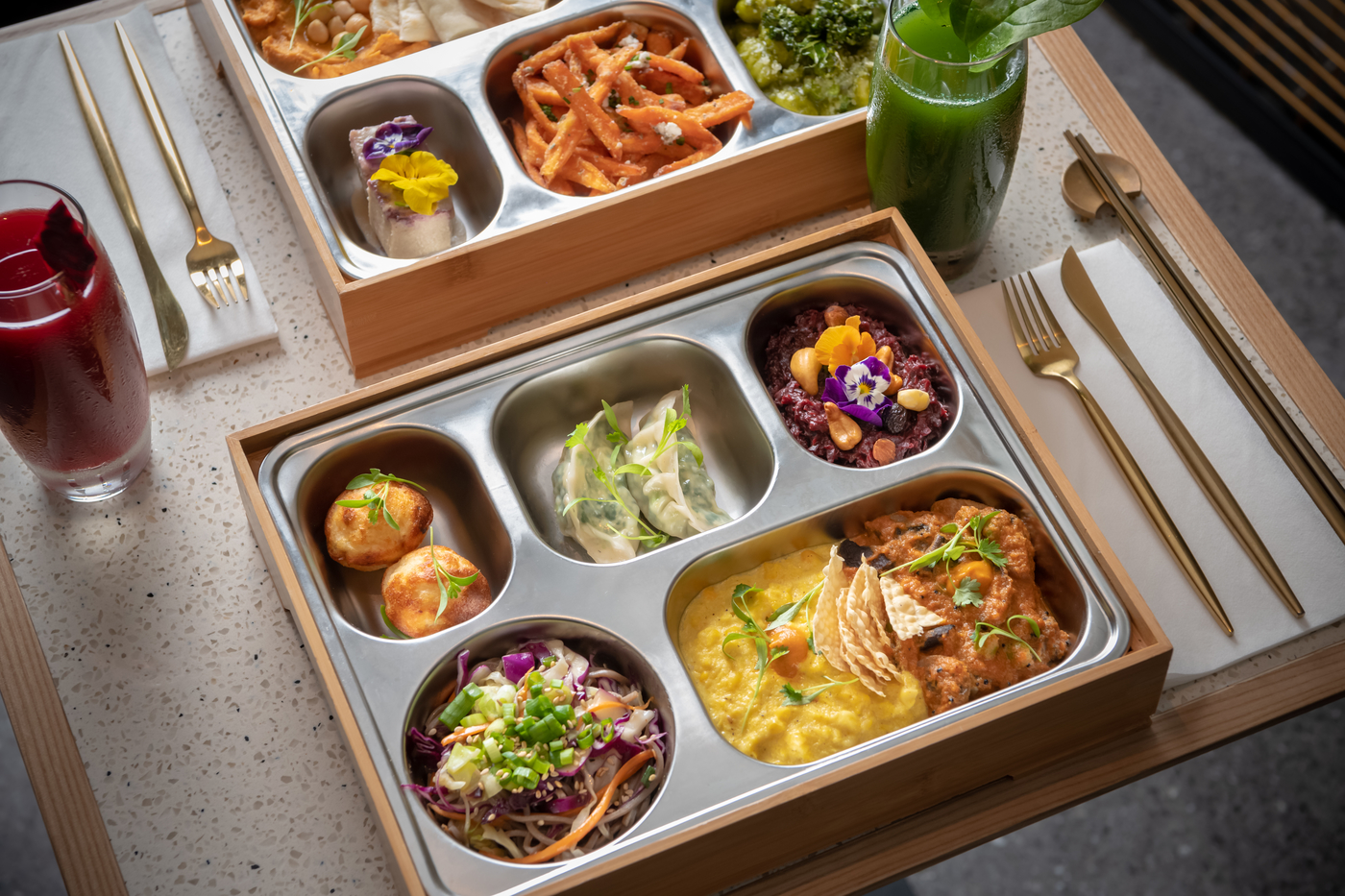 Serving breakfast, lunch and dinner, Veda is one of our fave plant-based joints in Central