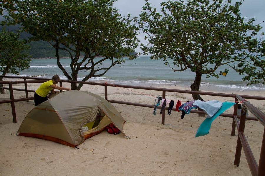 camping in Hong Kong Pui O