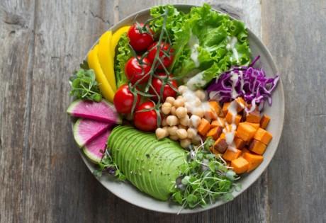 healthy eating in Hong Kong vegetable salad