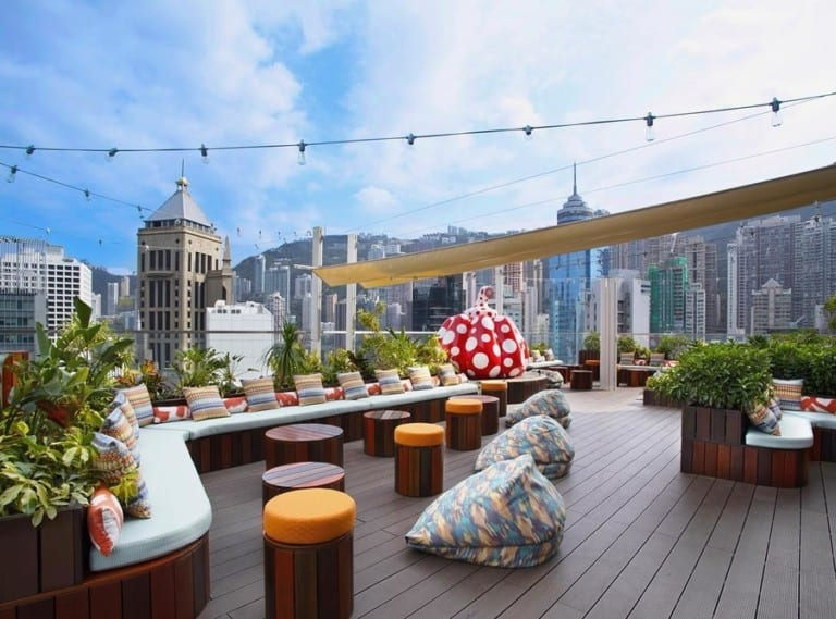Kick start your evening at these gorgeous outdoor terraces and rooftop bars in Hong Kong
