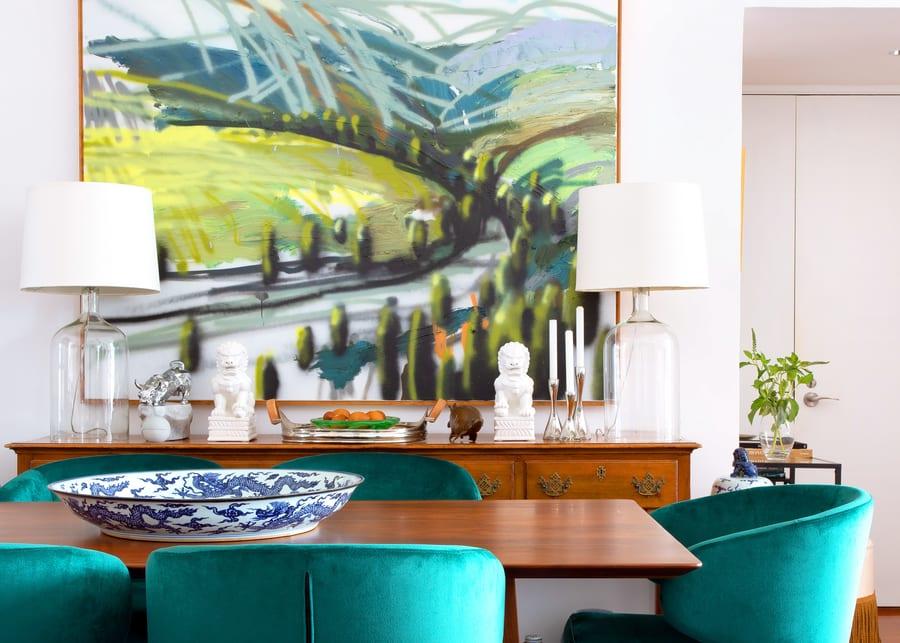 small apartment interior design Hong Kong artwork