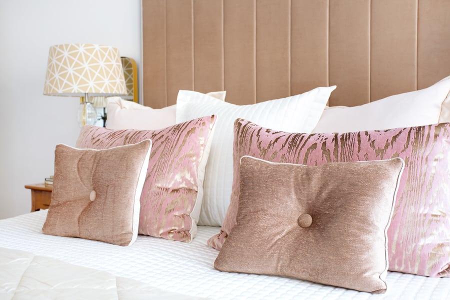 small apartment interior design bed
