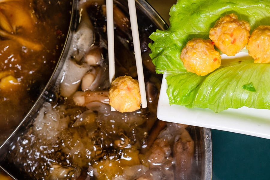 Pure Veggie House hot pot restaurants in Hong Kong vegan dim sum balls