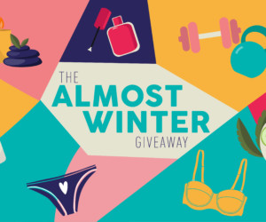 The ALmost WInter Giveaway poster
