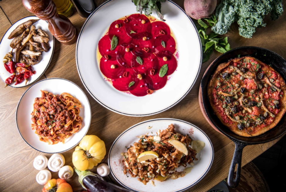 plant-based dishes at Posto Pubblico