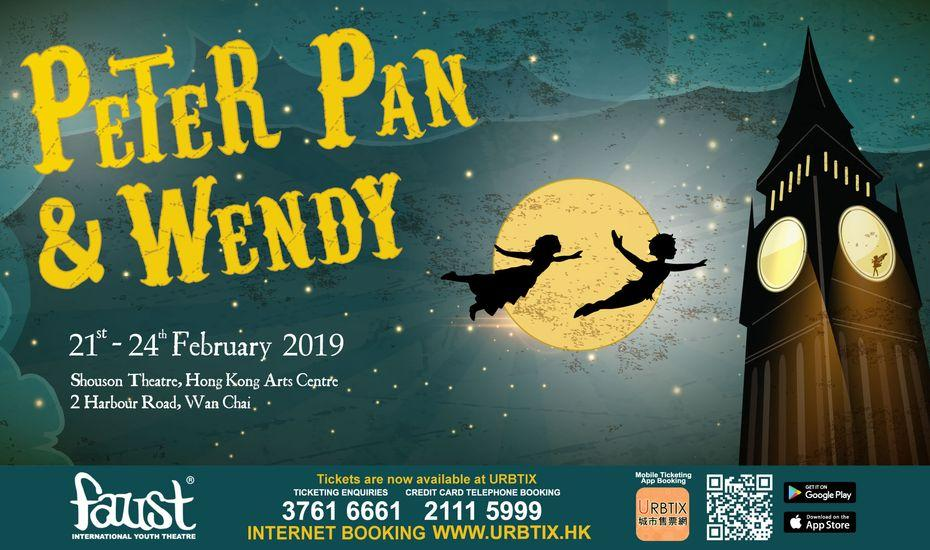 Peter Pan & Wendy - Presented by Faust International Youth Theatre |  Honeycombers Hong Kong