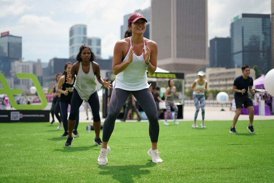 outdoor fitness classes in Hong Kong Sunday Shred