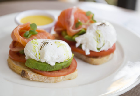 Avocado and Smoked Salmon Eggs Benedict Fishsteria new brunches in Hong Kong 2019 in January