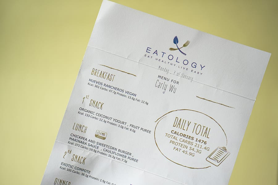 Eatology meal delivery serives in Hong Kong vegan meal plans menu