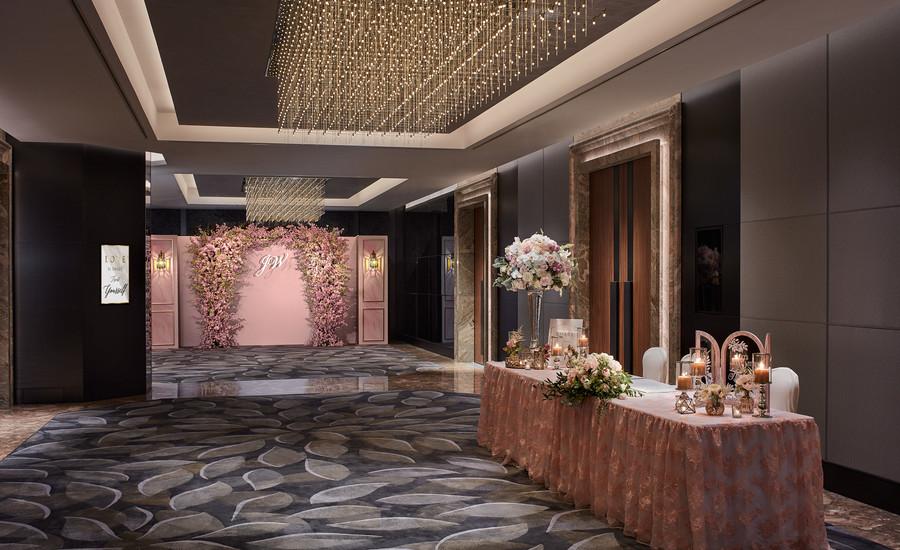 Foyer wedding reception