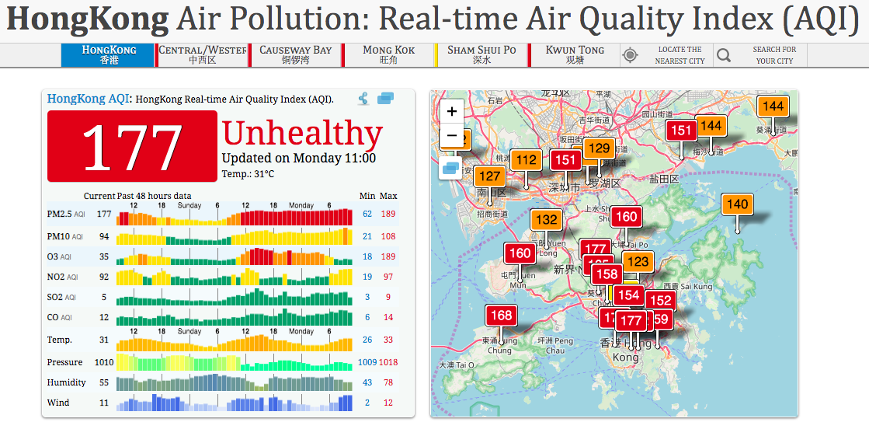 Hong Kong air pollution