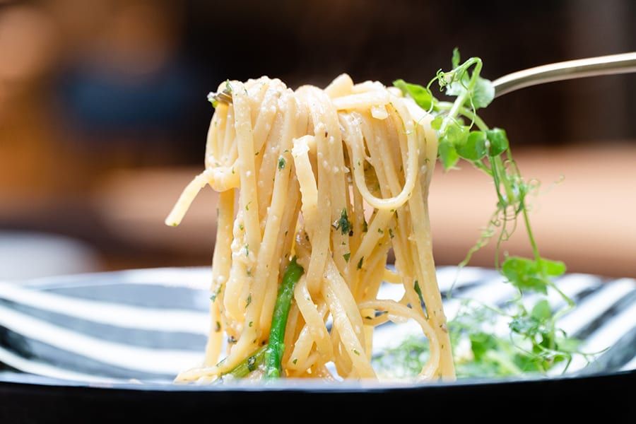 Joie Plant-based Bistro vegetarian restaurants in Hong Kong The Mills pasta