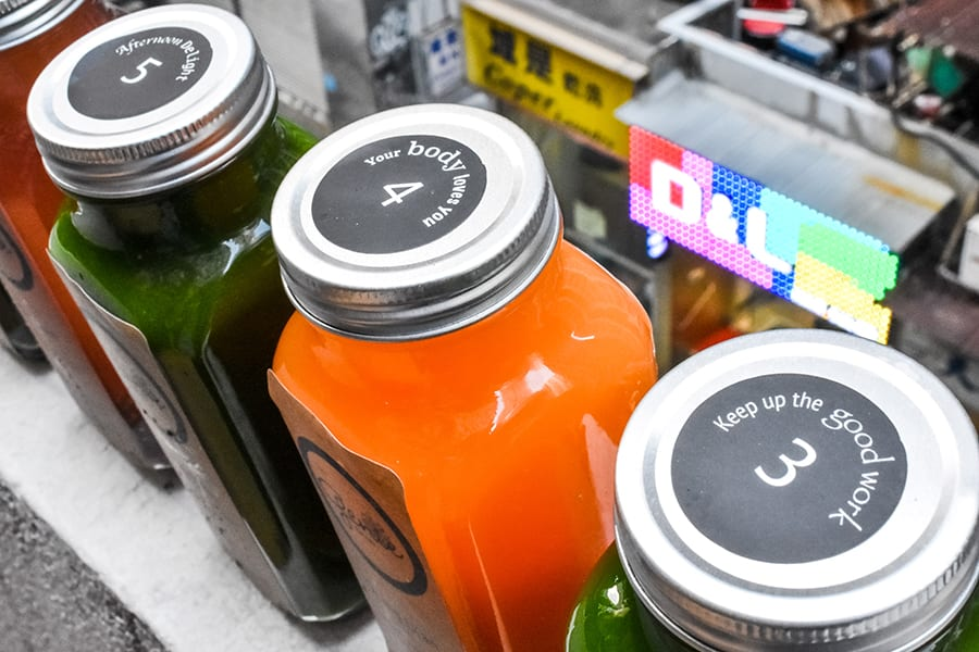genie juicery 3-day cleanse detox numbers on bottles