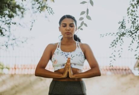 yoga teacher training in Hong Kong woman doing yoga