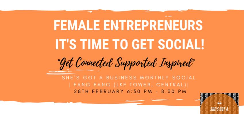 Female enterpreneurs, it's time to get social!