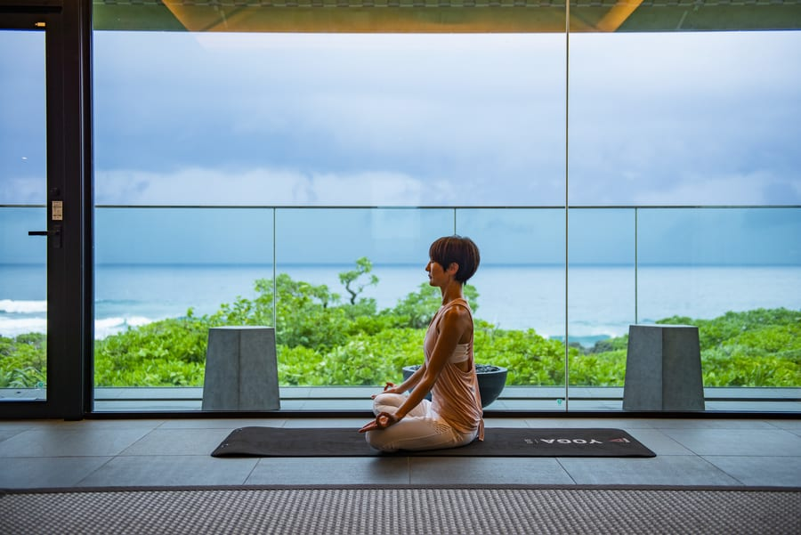 Hyatt Regency Seragaki Island Okinawa morning yoga